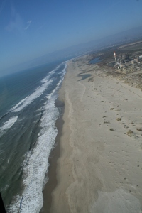 Over the beach in Oxnard